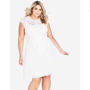 City Chic Plus Size lace bodice dress-Size 20
